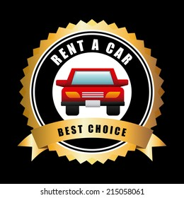 rent a car over black,background vector illustration