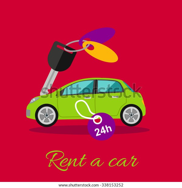 Rent Car Car Rentals By Hour Stock Vector Royalty Free 338153252