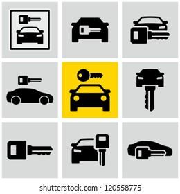 Rent a car signs