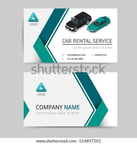 Rent Car Vector Modern Creative Clean Stock Vector Royalty Free
