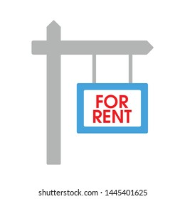 for rent icon. Logo element illustration. for rent design. colored collection. for rent concept. Can be used in web and mobile