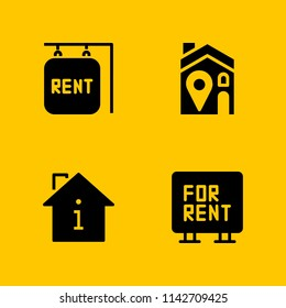 rent icon set. for rent, rent and house vector icon for graphic design and web