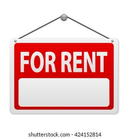 For rent sign board background.
