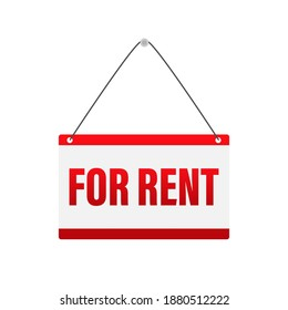 For rent sign. Isolated vector illustration. Vector illustration design. Design element.