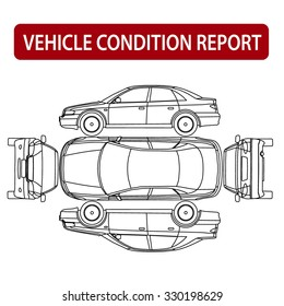 Rental car condition form (vehicle checklist, auto damage inspection)
