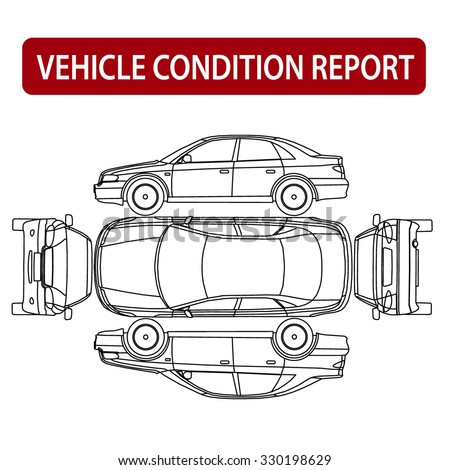 Rental Car Condition Form Vehicle Checklist Auto Damage Inspection