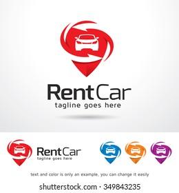 Rental Car Logo Template Design Vector