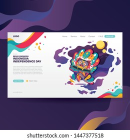 Reog Ponorogo Illustration For Indonesia  Independence Day Landing Page