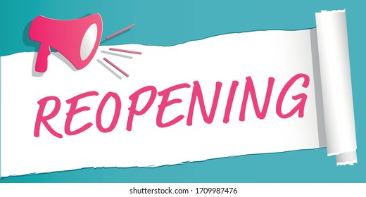 Reopening label illustration icon and paper style