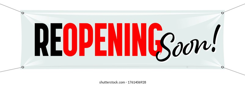 Reopening soon on white banner