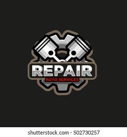 Repair auto service logo icon emblem badge