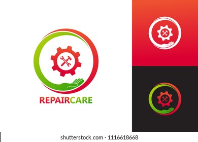 Repair Care Logo Template Design Vector, Emblem, Design Concept, Creative Symbol, Icon