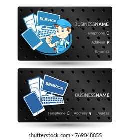 Computer Repair Business Card Images Stock Photos Vectors