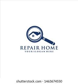 Repair Home Logo Vector abstrak