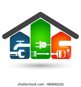 Repair of home symbol for business