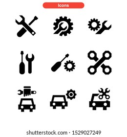 repair icon isolated sign symbol vector illustration - Collection of high quality black style vector icons