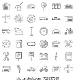 Repair icons set. Outline style of 36 repair vector icons for web isolated on white background