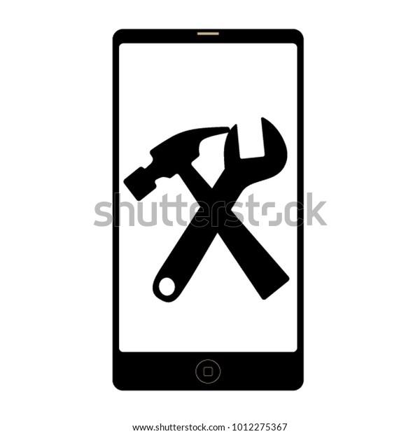 Repair Mobile Phones Logo Vector Illustration Stock Vector (Royalty