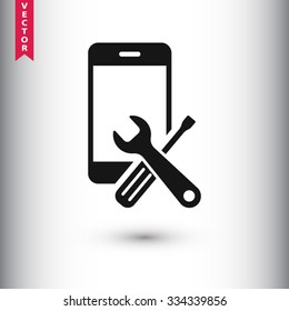 repair phone  icon. One of set web icons
