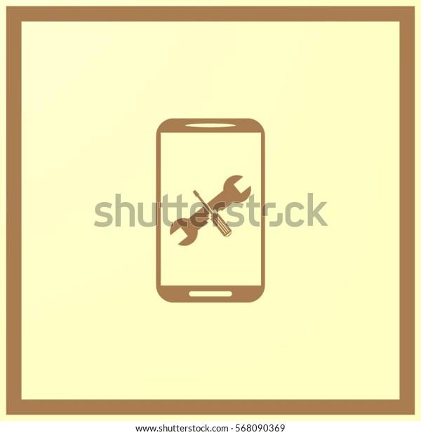 repair phone vector icon