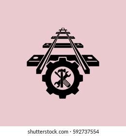 repair of railway.vector icon