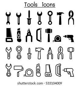 Repair tools icon set