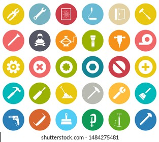 repair tools icons set - maintenance sign and symbols