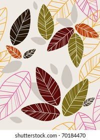 repeat background with leafs