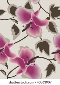 repeat floral background with hibiscus