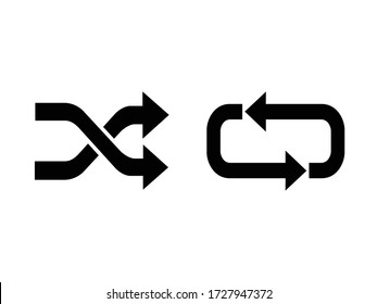 the repeat icon and shuffle icon