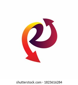Repeat logo design with letter R