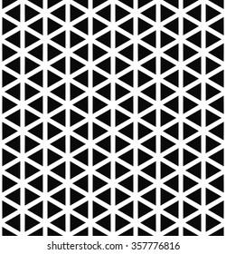 Repeat monochrome hexagonal vector triangle pattern design