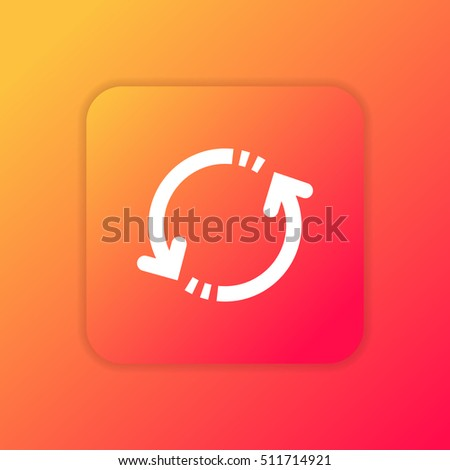 Repeat Orange Bright App Uiux Icon Stock Vector (Royalty