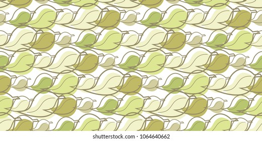 repeat pattern of leaves for use as seamless background