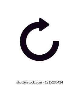 repeat restart icon sign