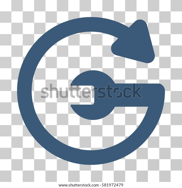 Repeat Service vector pictograph. Illustration style is a flat iconic blue symbol on a transparent background.