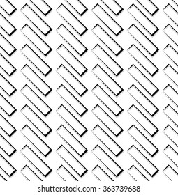 Repeatable pattern with rectangular square shapes. Monochrome abstract background