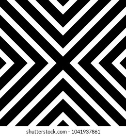 Repeatable seamless pattern with lines. Grayscale geometric  pattern