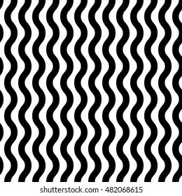 Repeatable wavy, zigzag vertical lines. Seamless vector pattern.