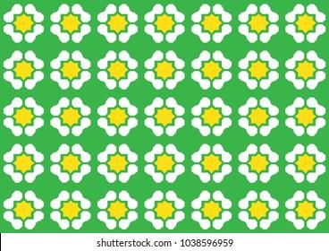 Repeated Pattern Peranakan Style Vector Illustration
