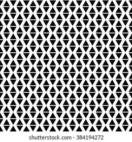 Repeating black and white vector triangle pattern background