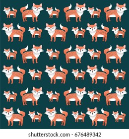 A repeating Fox Pattern