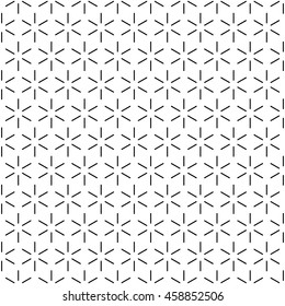 Repeating Outlined Cube Faces Pattern Wallpaper - Black Line Segments on White Background - Flat Contrast Graphic