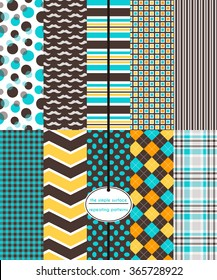 Repeating patterns for digital paper, scrapbooking, cards, gift wrap, invitations, announcements, backgrounds and borders. File includes: mustache print, stripes, plaid, argyle, polka dots and more.