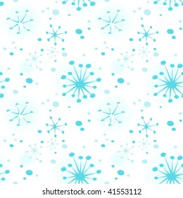 repeating snow flurry banner- can be tiled and scaled to fit any size