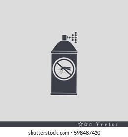 Repellent spray insect. Mosquito silhouette. Mosquito repellen