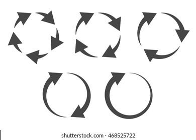 repetitive process icon circular arrows explanation stock vector