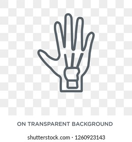 Repetitive strain injury icon. Trendy flat vector Repetitive strain injury icon on transparent background from Diseases collection. High quality filled Repetitive strain injury symbol use for web and