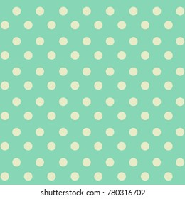 repetitive white dot drawing vector on light green background