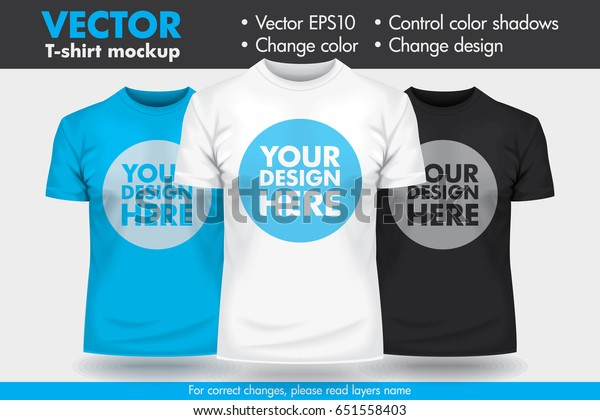 Replace Design with your Design, Change Colors Mock-up T shirt Template